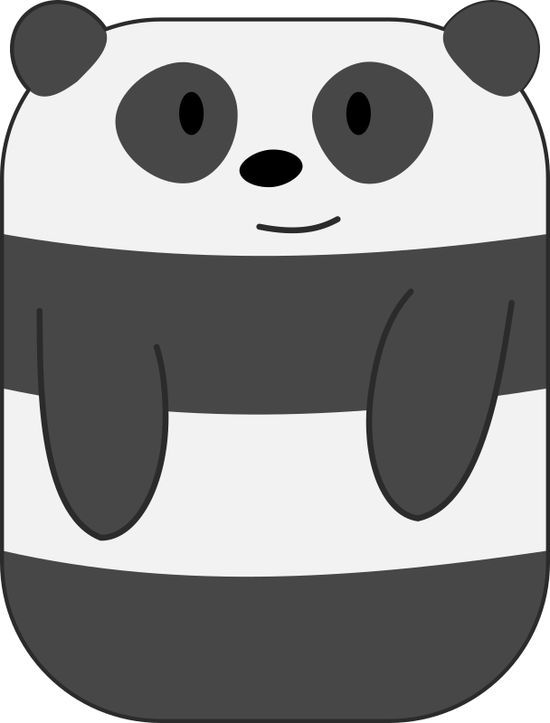 Cute Cartoon Panda with Hands