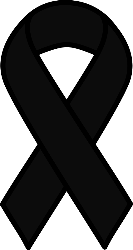 Black Melanoma Ribbon
