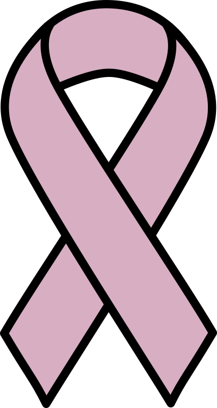 Lavender Ribbon for All Cancers