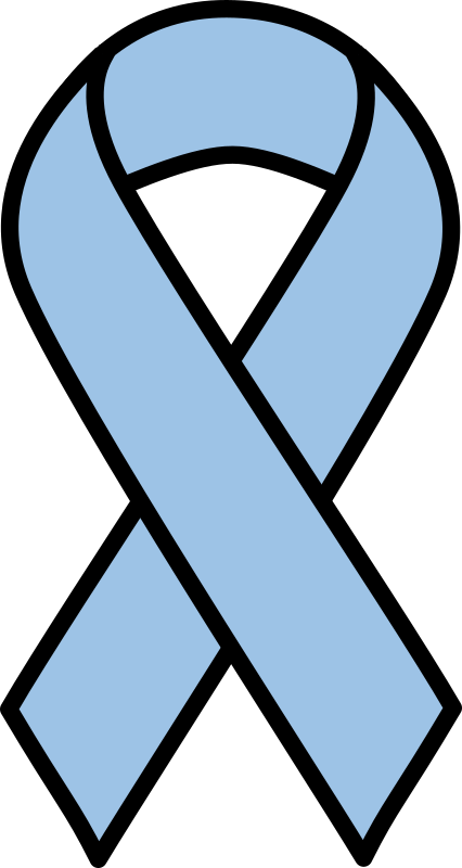 Light Blue Prostate Cancer Ribbon