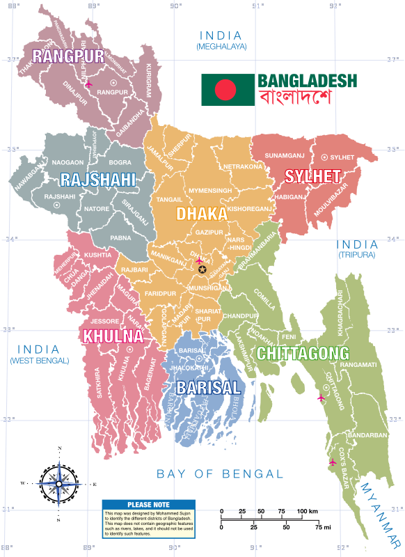 Bangladesh District Map