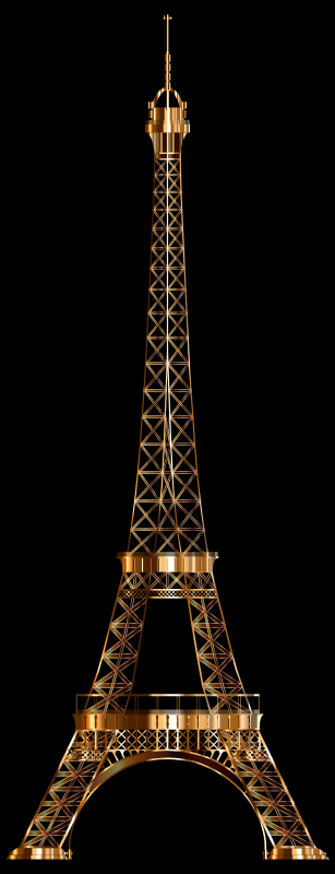 Eiffel Tower Shiny Copper