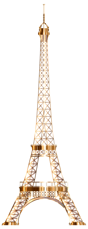 Eiffel Tower Shiny Copper No Background