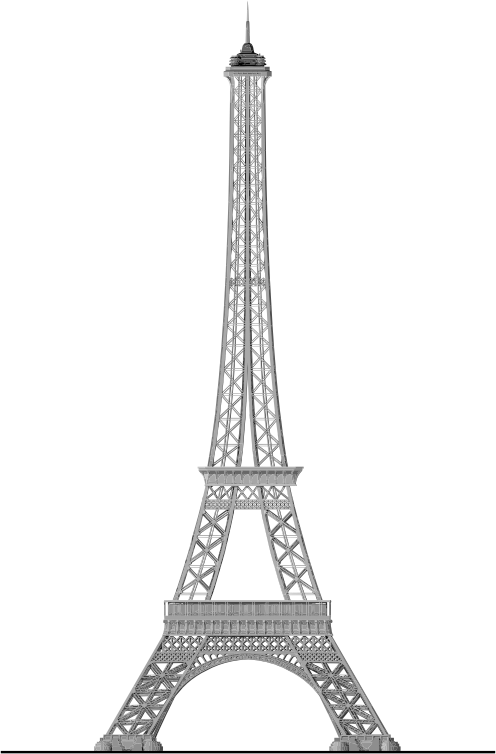 Detailed Eiffel Tower