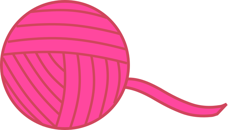 Pink Ball of Yarn
