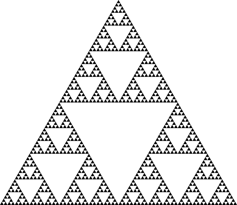 Sierpinski triangle (6 levels)