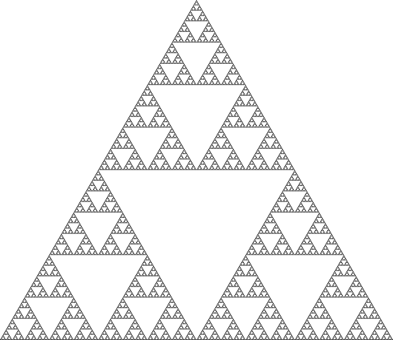 Sierpinski triangle (8 levels)