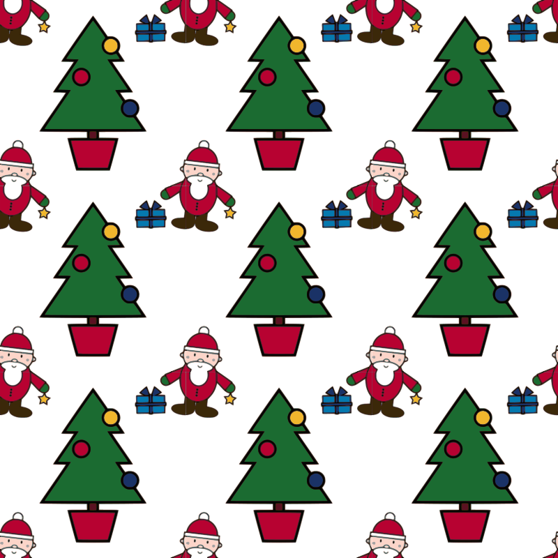 Christmas Scene-seamless pattern