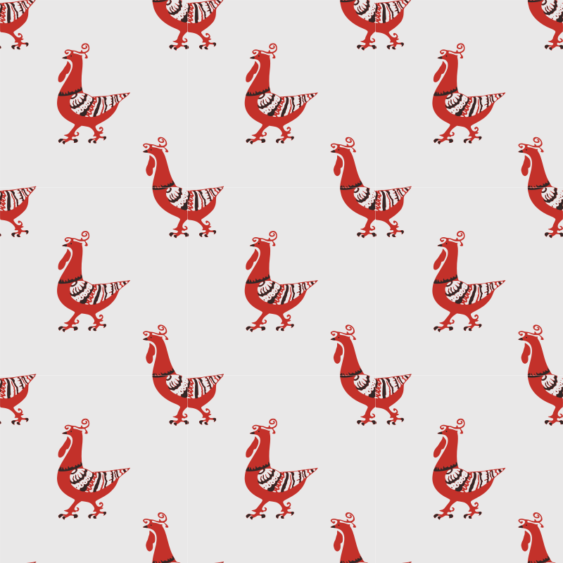 Rooster-seamless pattern
