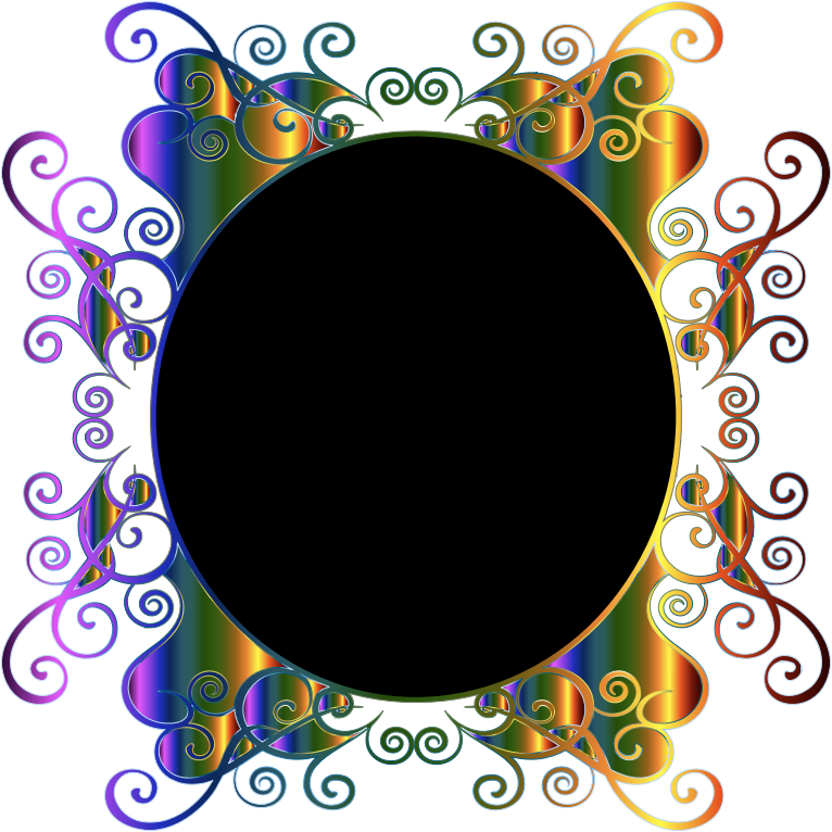 Prismatic Flourish Frame No Background