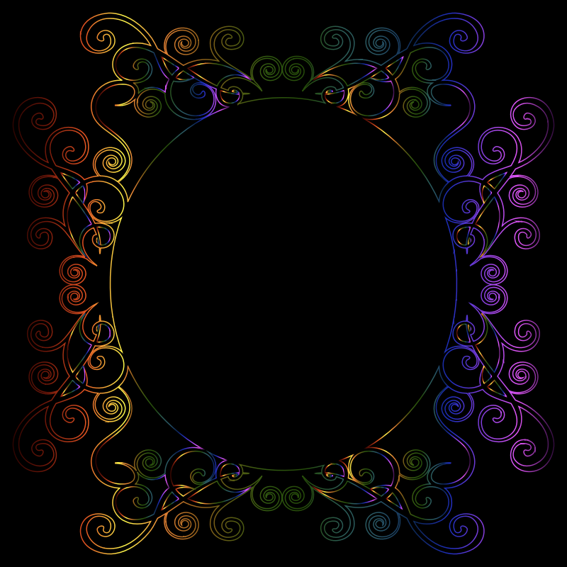 Prismatic Flourish Frame 7