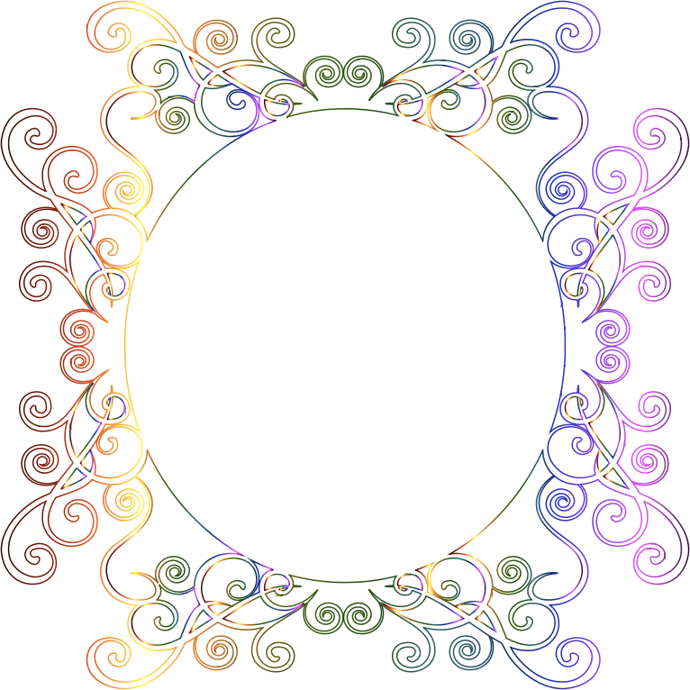 Prismatic Flourish Frame 7 No Background