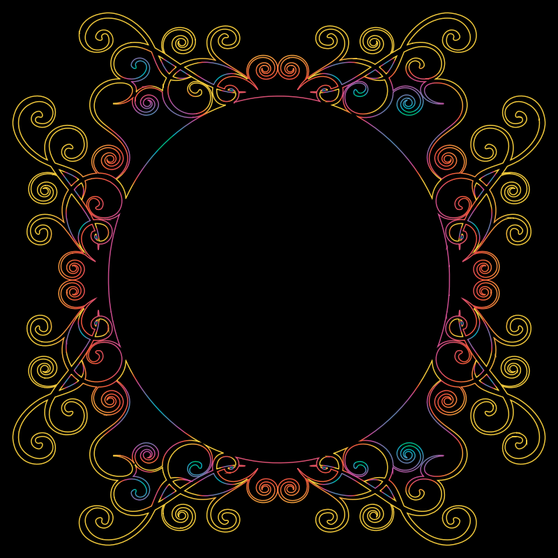 Prismatic Flourish Frame 9