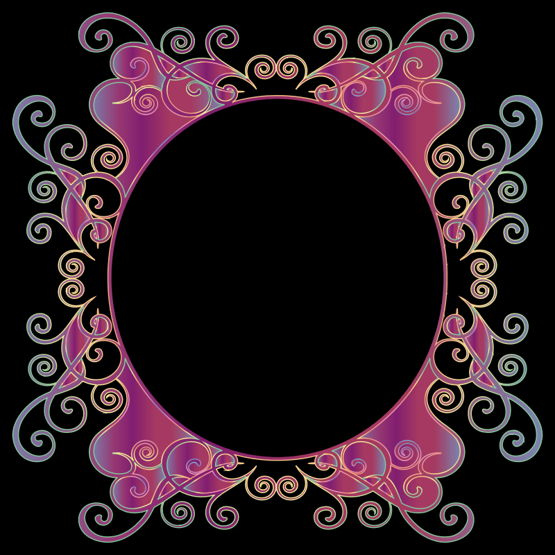 Prismatic Flourish Frame 10