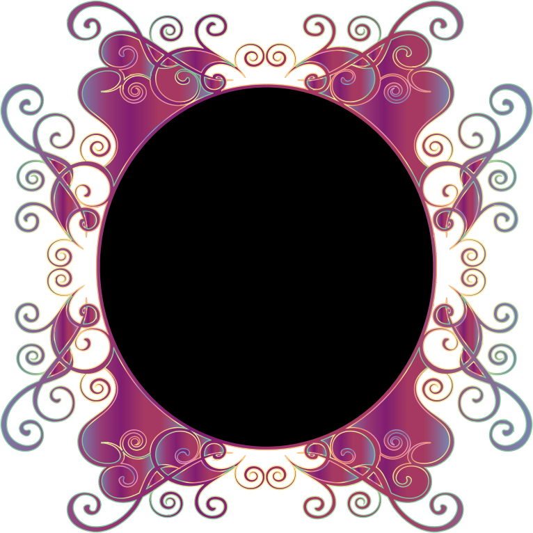 Prismatic Flourish Frame 10 No Background