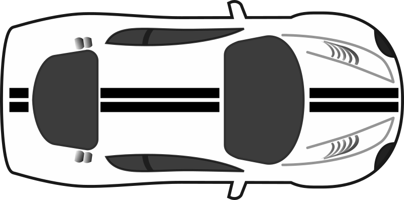Racing Stripes Car Top View