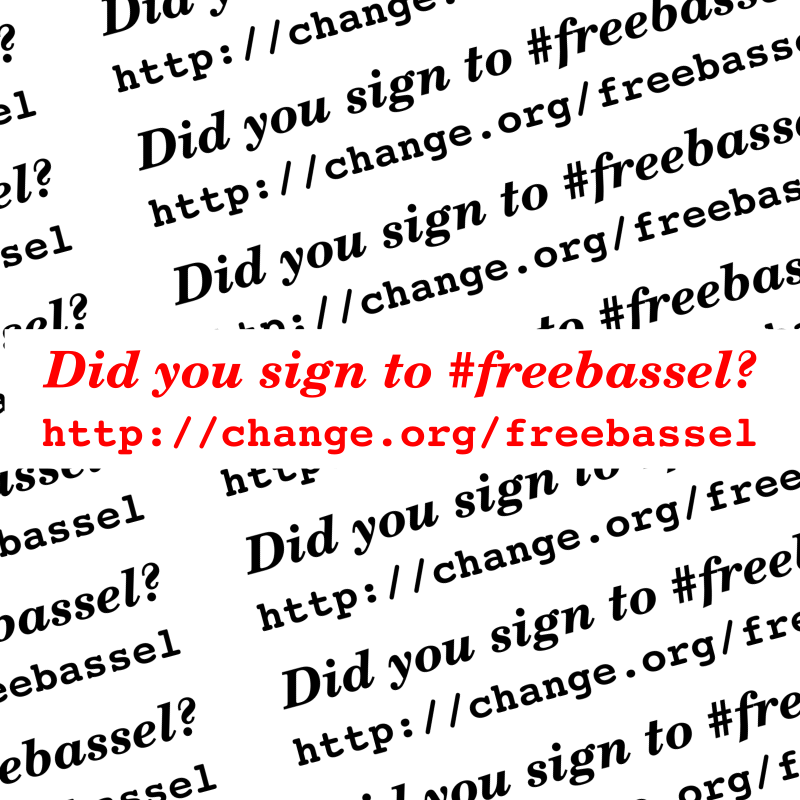 Sign to freebassel
