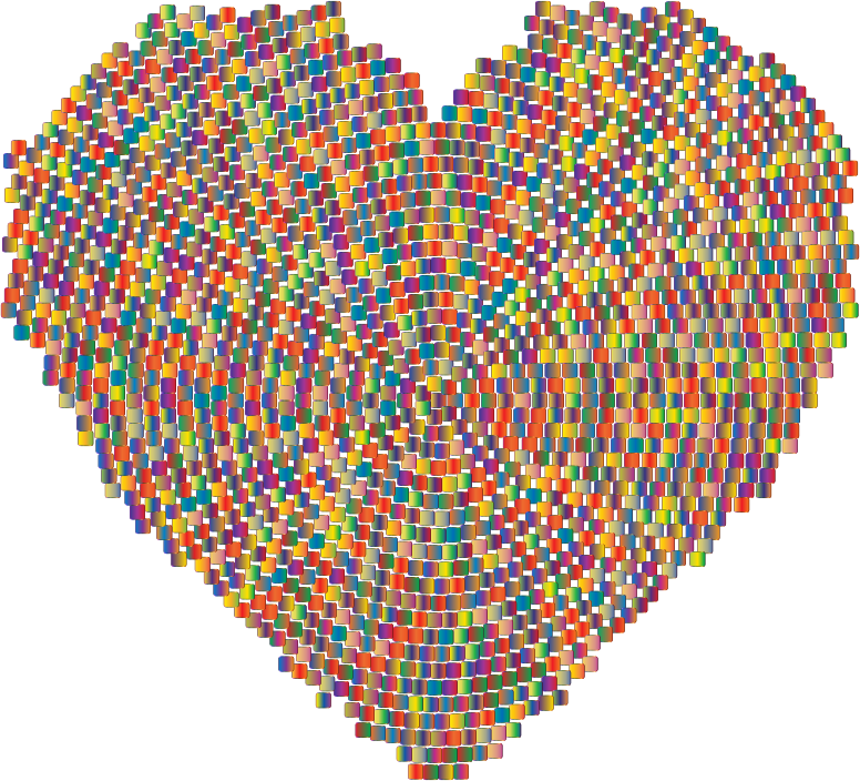 Colorful Mosaic Heart 2