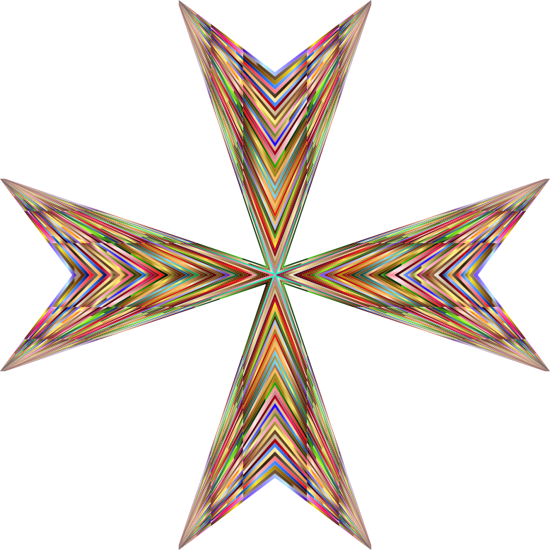 Vibrant Maltese Cross