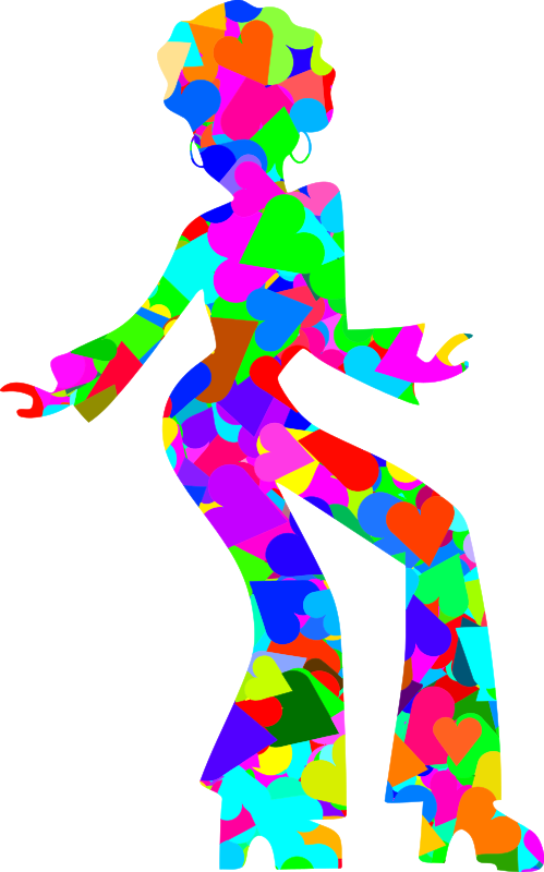 Colourful disco dancer 4