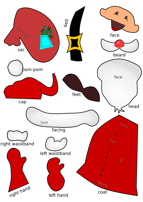 Santa Claus handicraft-sheet