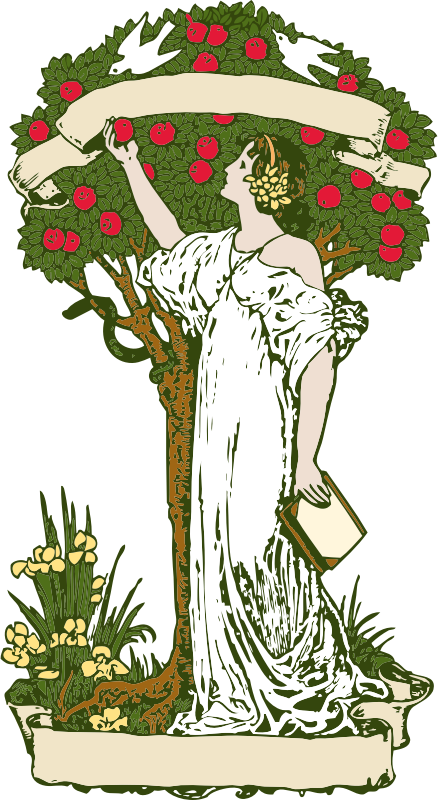 Woman at Apple Tree - Color