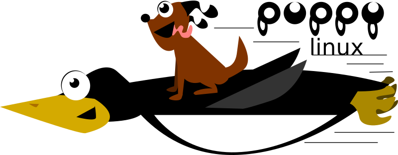 Puppy Linux Logo with Tux