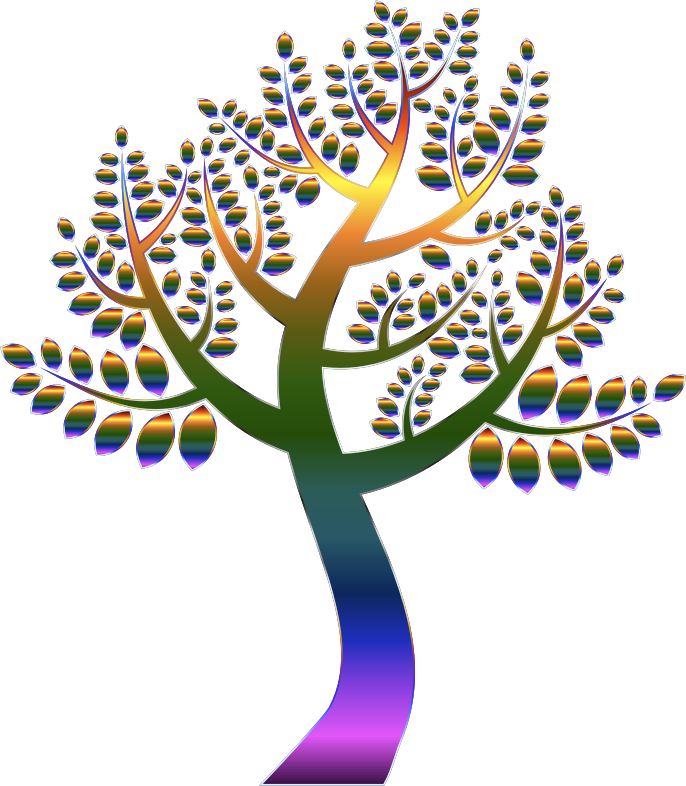 Simple Prismatic Tree 5 Without Background