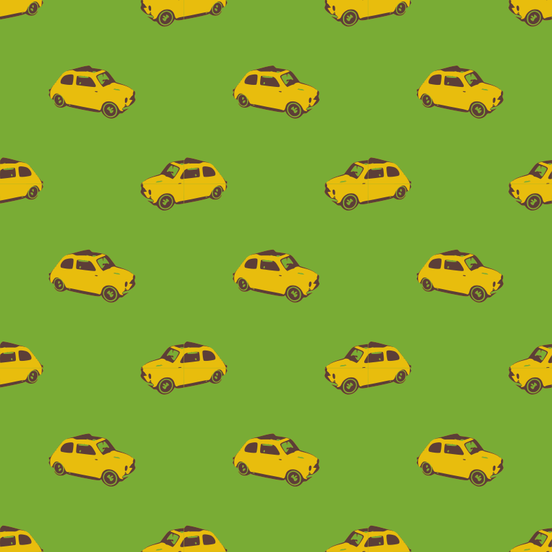 Fiat yellow-seamless pattern