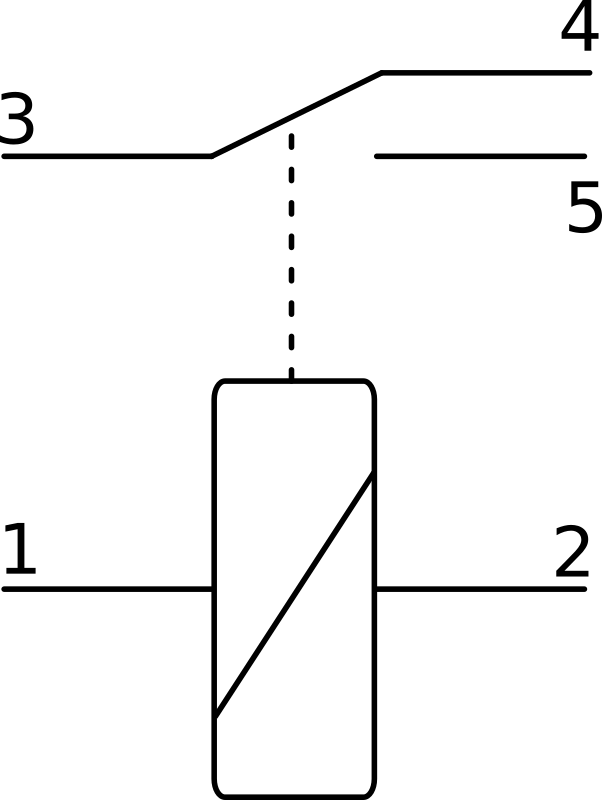 Electric relay symbol