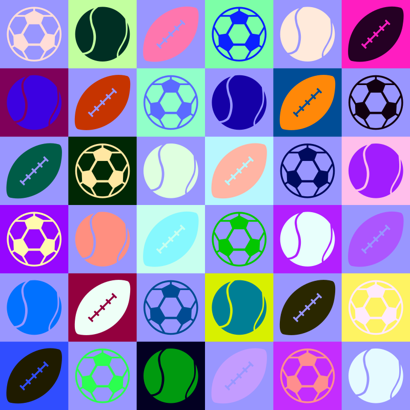 Sports ball pattern (multicoloured)