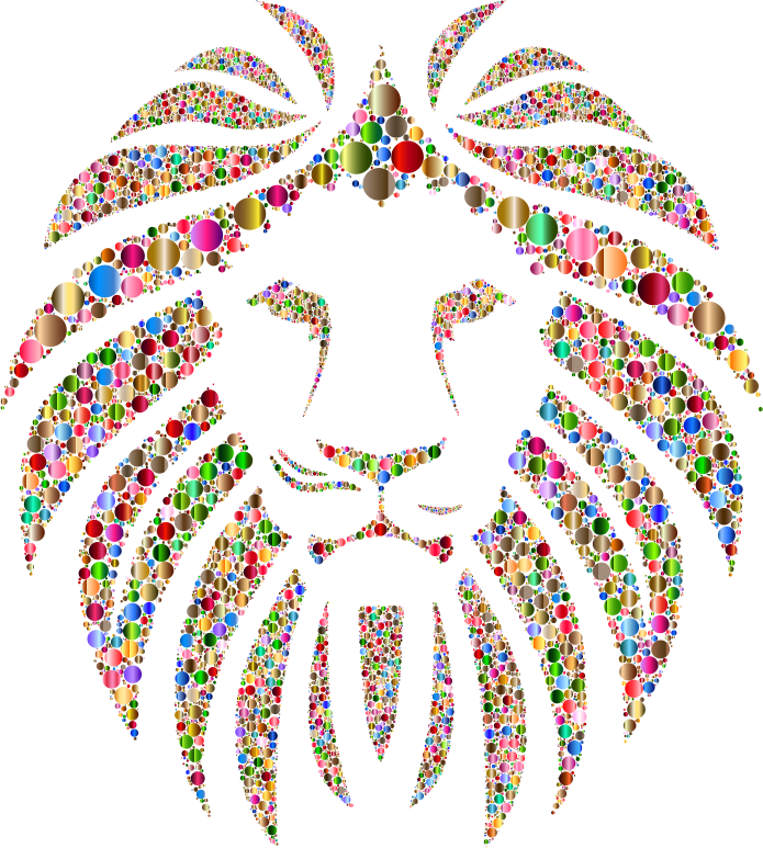 Colorful Lion Circles 4 No Background
