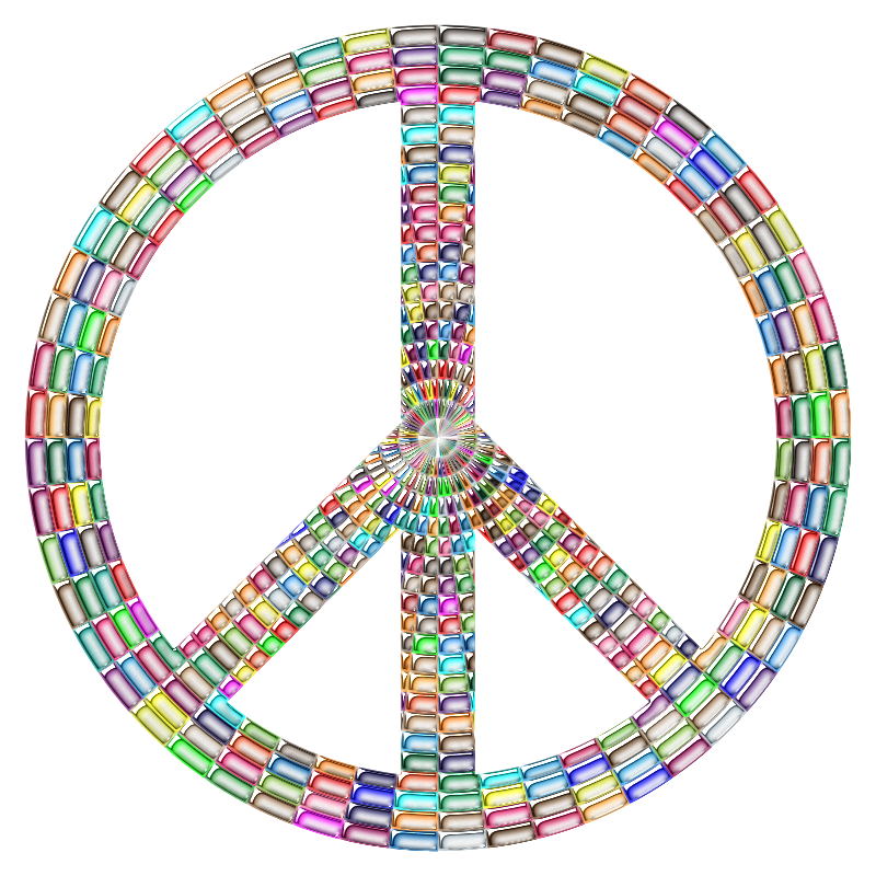 Prismatic Peace Sign Enhanced