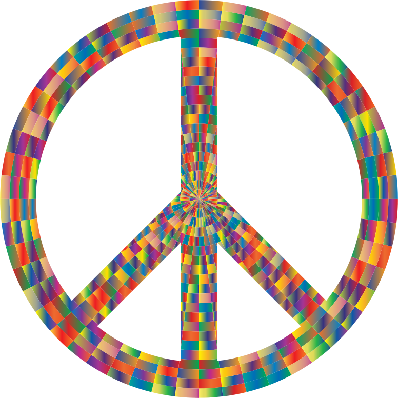 Prismatic Peace Sign 6