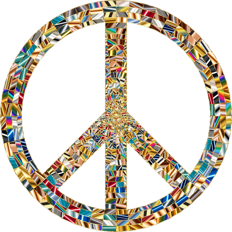 Prismatic Peace Sign 15 No Background