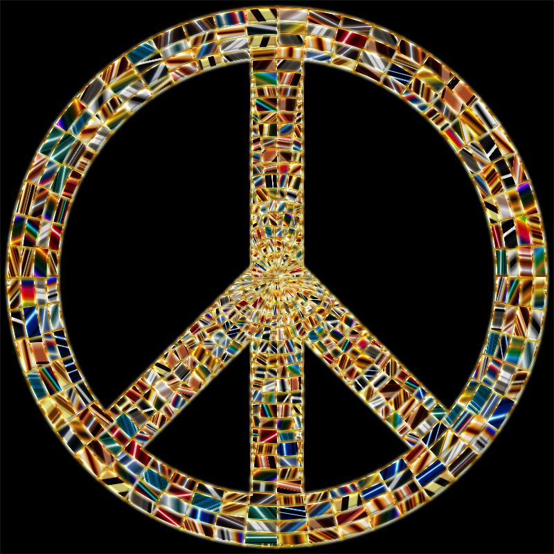 Prismatic Peace Sign 15 Enhanced
