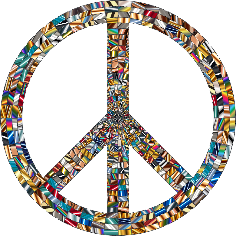 Prismatic Peace Sign 16 No Background