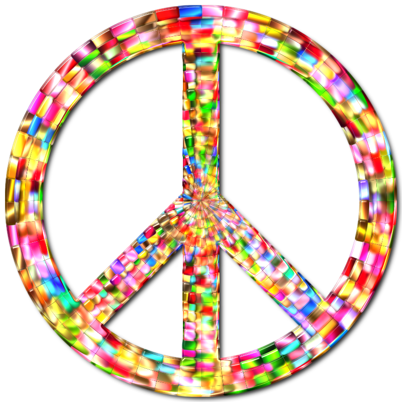 Prismatic Peace Sign 5 Enhanced