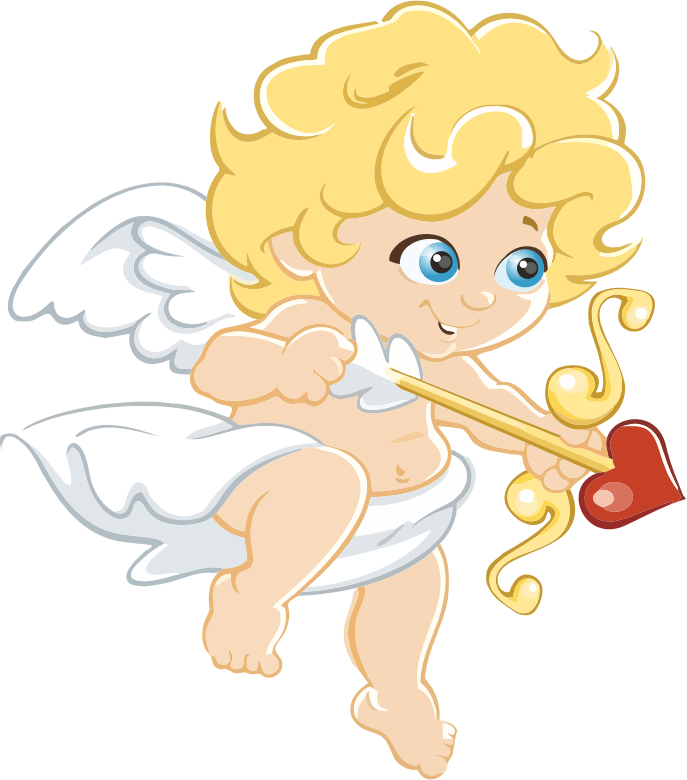 Blonde Cartoon Cupid