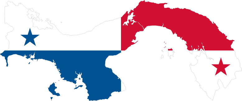Panama Map Flag