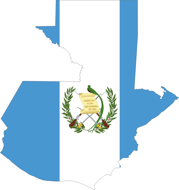 Guatemala Map Flag