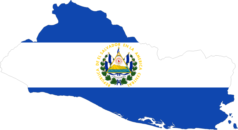 El Salvador Map Flag