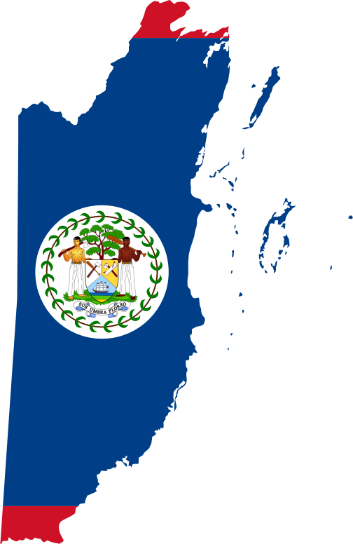 Belize Map Flag