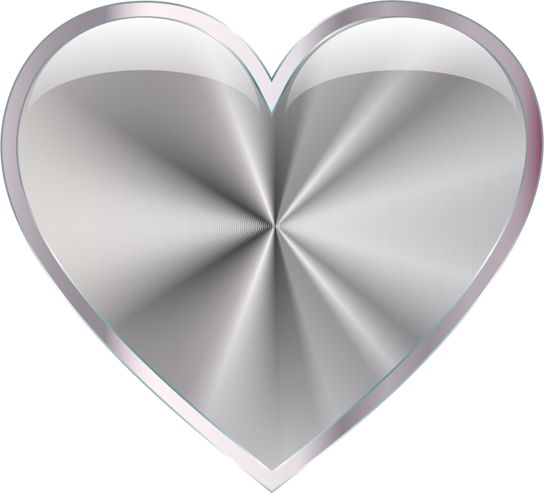 Silver Radiating Heart
