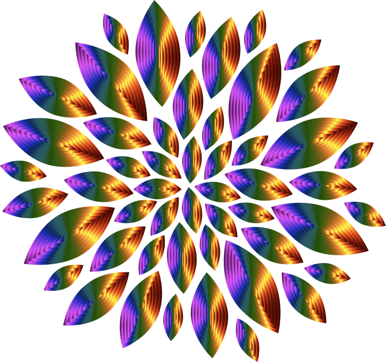 Chromatic Flower Petals 10