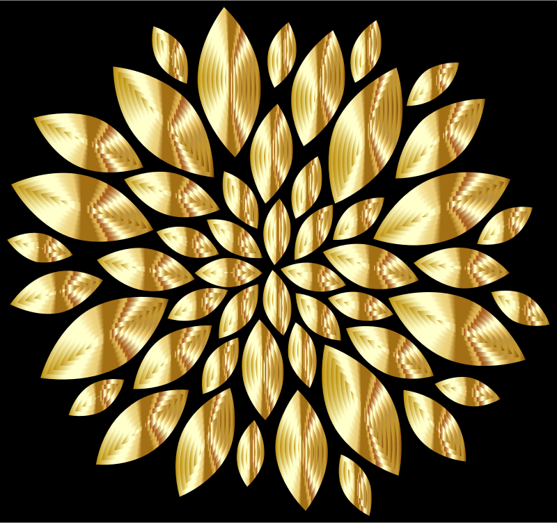 Gold Flower Petals With Background