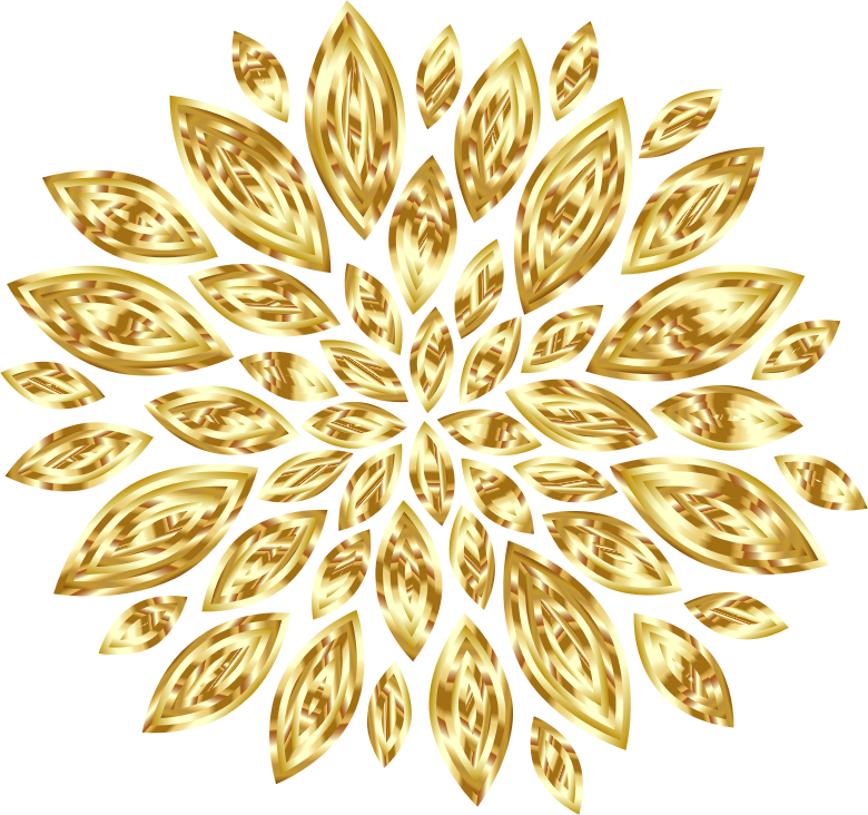 Gold Flower Petals Variation 2