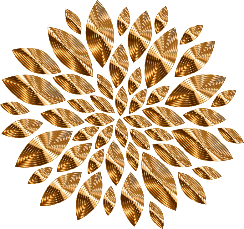 Gold Flower Petals Variation 4