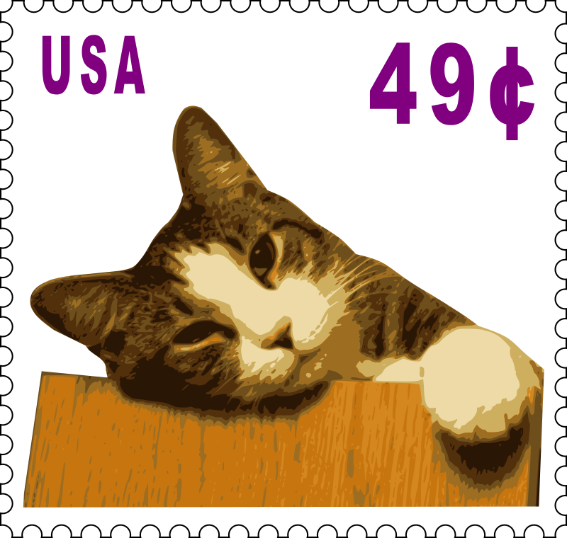 Cat stamp (49 cents)