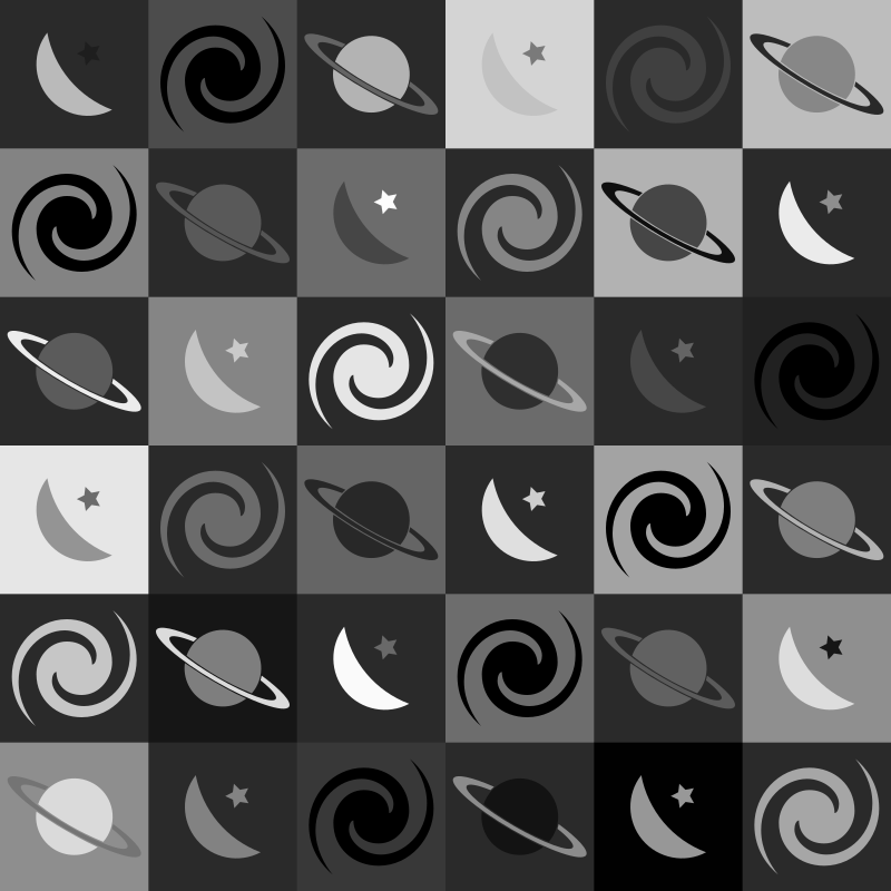 Space pattern 3 (greyscale)
